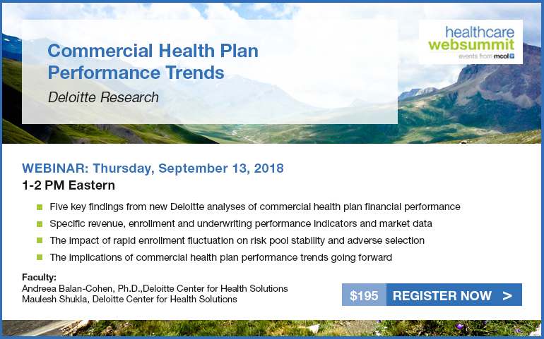 Commercial Health Plan Performance Trends: Deloitte Research
