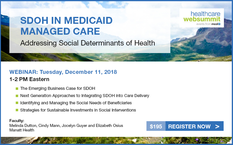 Addressing Social Determinants of Health: SDOH in Medicaid Managed Care